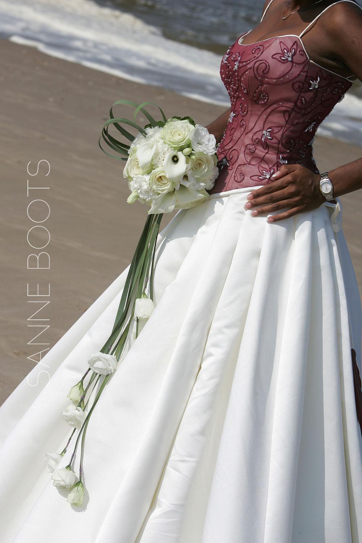 Bruidsboeket | Waterval met Lisianthus