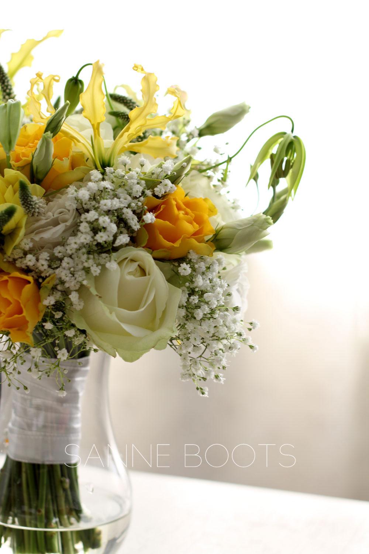 Bruidsboeket | Prachtige gele Gloriosa