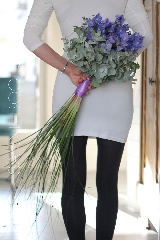 Bruidsboeket | Eenvoud met Delphinium en Eucalyptus
