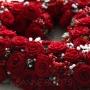 Autobloemstuk | Fluweel rode rozen als symbool voor de liefde