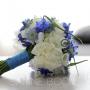 Bruidsboeket | Trouwen en je bruiloft in blauw en wit