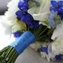 Bruidsboeket | Een mooie afwerking in de kleur van de jurk van het bruidsmeisje
