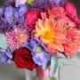 Bruidsboeket | Felle kleuren en veel bloemen