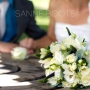 Bruidsboeket   Wit met een klein beetje blauw