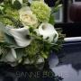 Bruidsboeket   Simpel in wit en groen