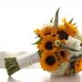 Bruidsboeket   Stoer met zonnebloemen