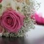 Bruidsboeket   Romantisch in roze en wit