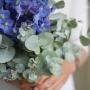 Bruidsboeket   Bijzonder in blauw, grijs en paars